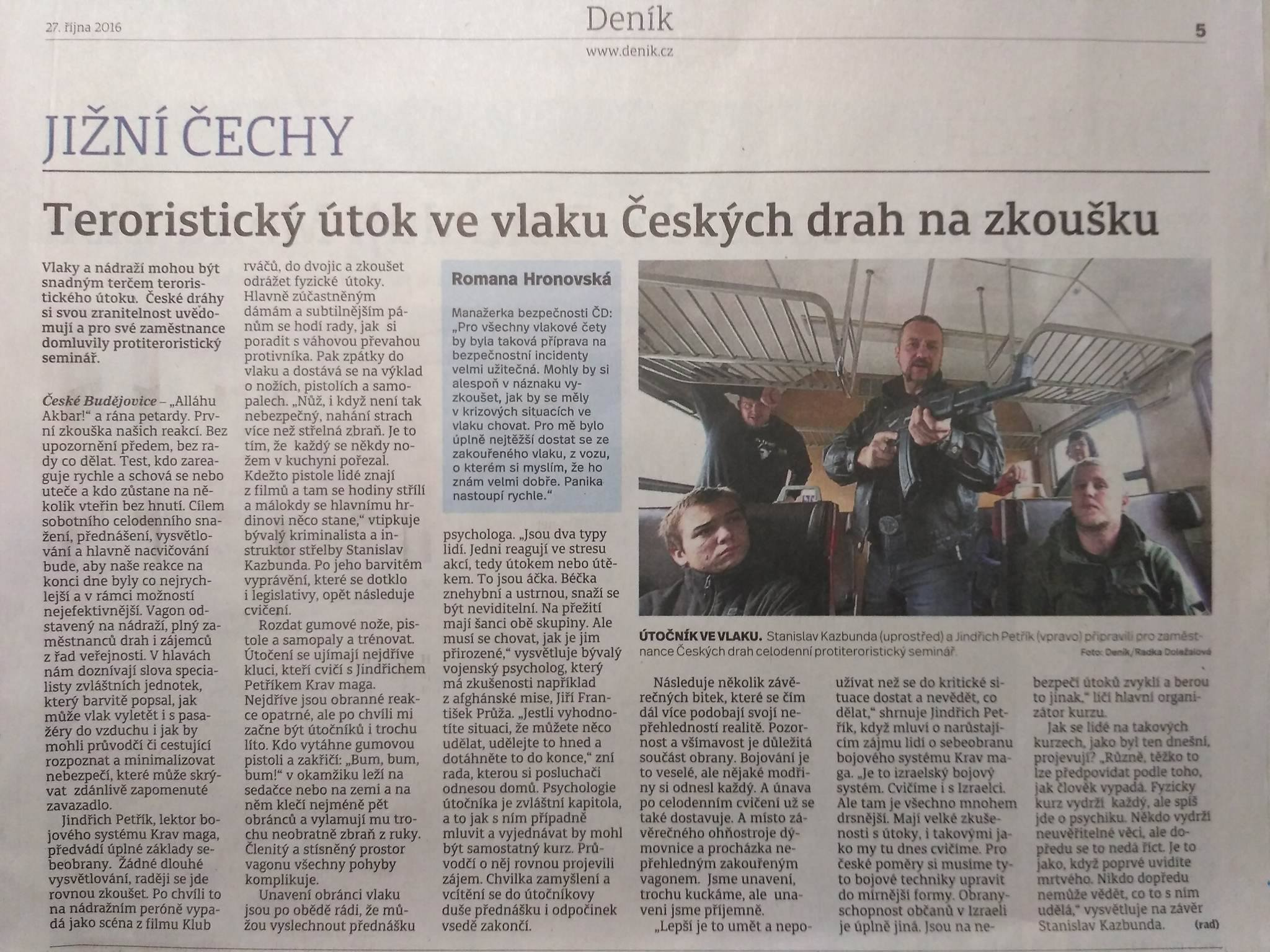 české dráhy přepadení ve vlaku