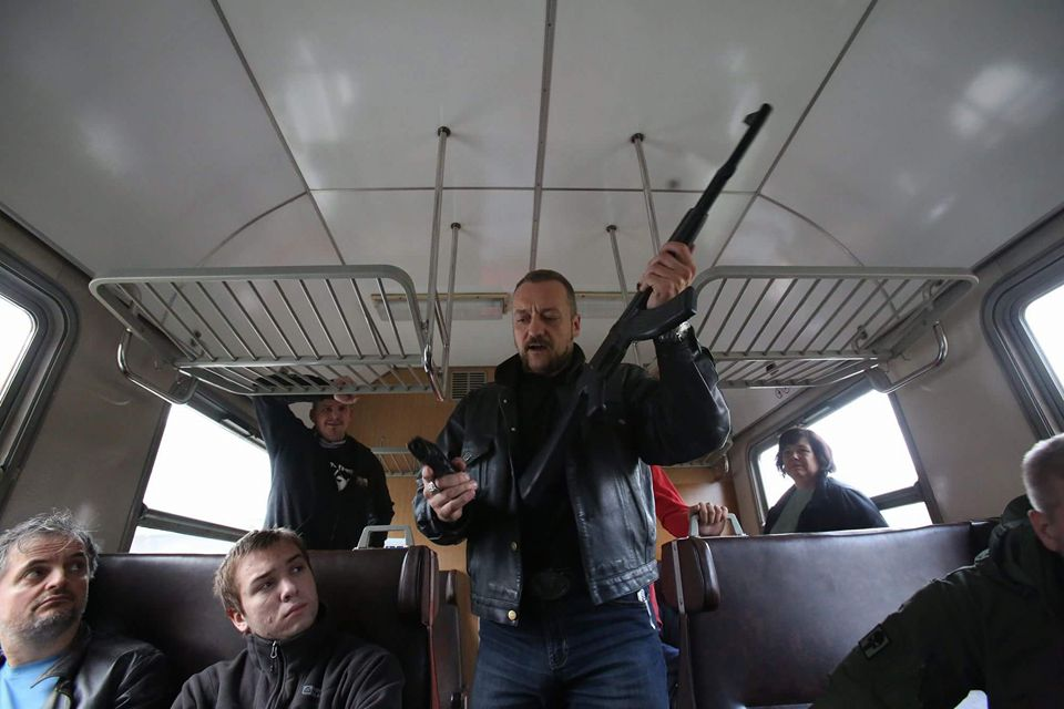 teroristický útok pistole