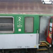 výbuch ve vlaku