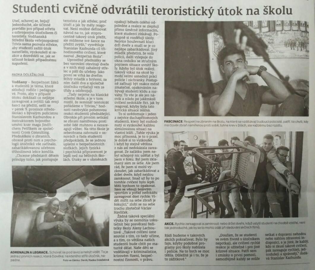 13.12.2016 Deník / Radka Doležalová